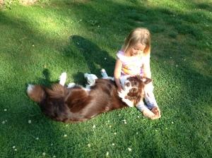 Aura with her best friend