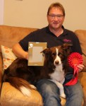 Chris and Luna proudly showing off their prize